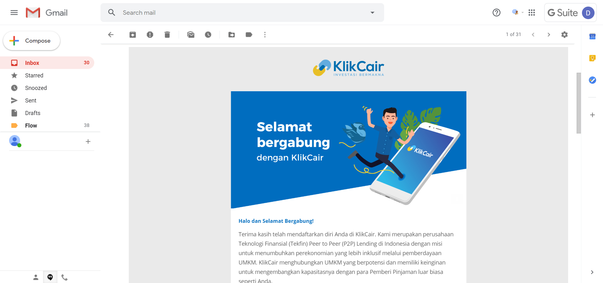 registrasi klikcair